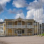 Historic old wooden house or villa in Lysekil, Sweden